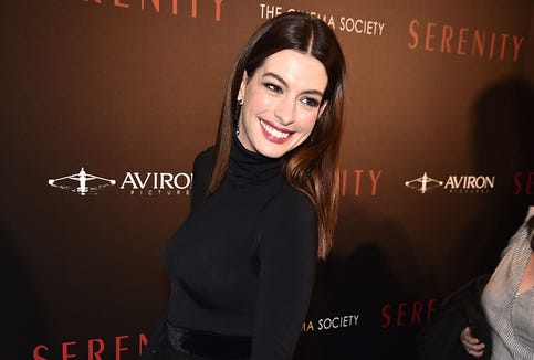 Anne Hathaway opted to give up drinking until her 3-year-old son moved out of the house.