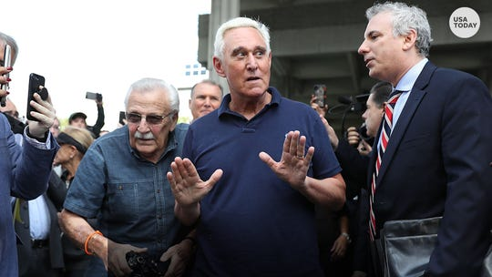 Judge says Roger Stone can keep talking about his criminal case, but not on the courthouse steps