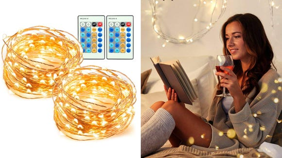 Cozy up in a room filled with discounted string lights.