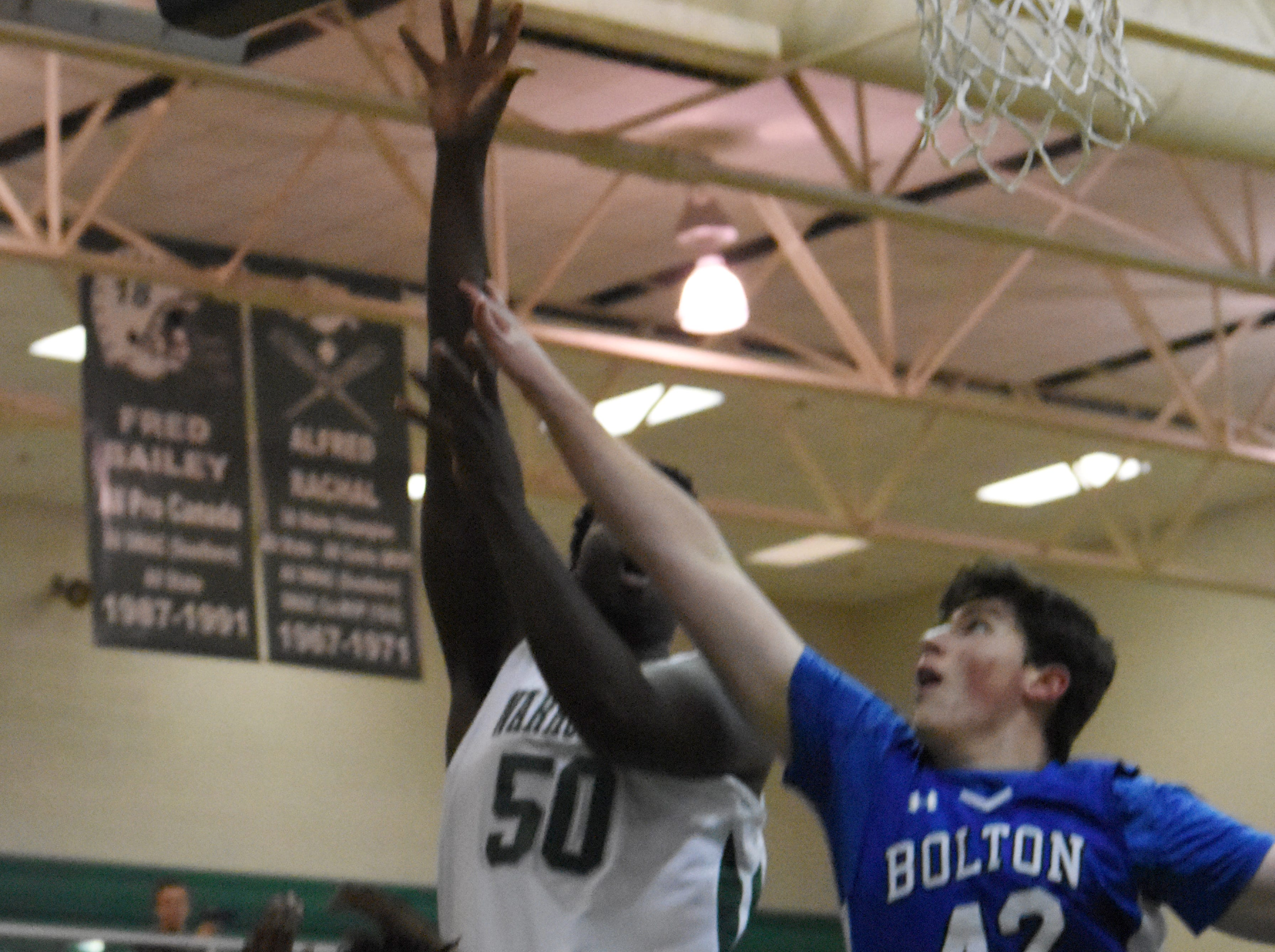 Peabody Magnet High School boys met Bolton High School at the Emerald Palace Friday, Jan. 25, 2019. Peabody won 115-28.
