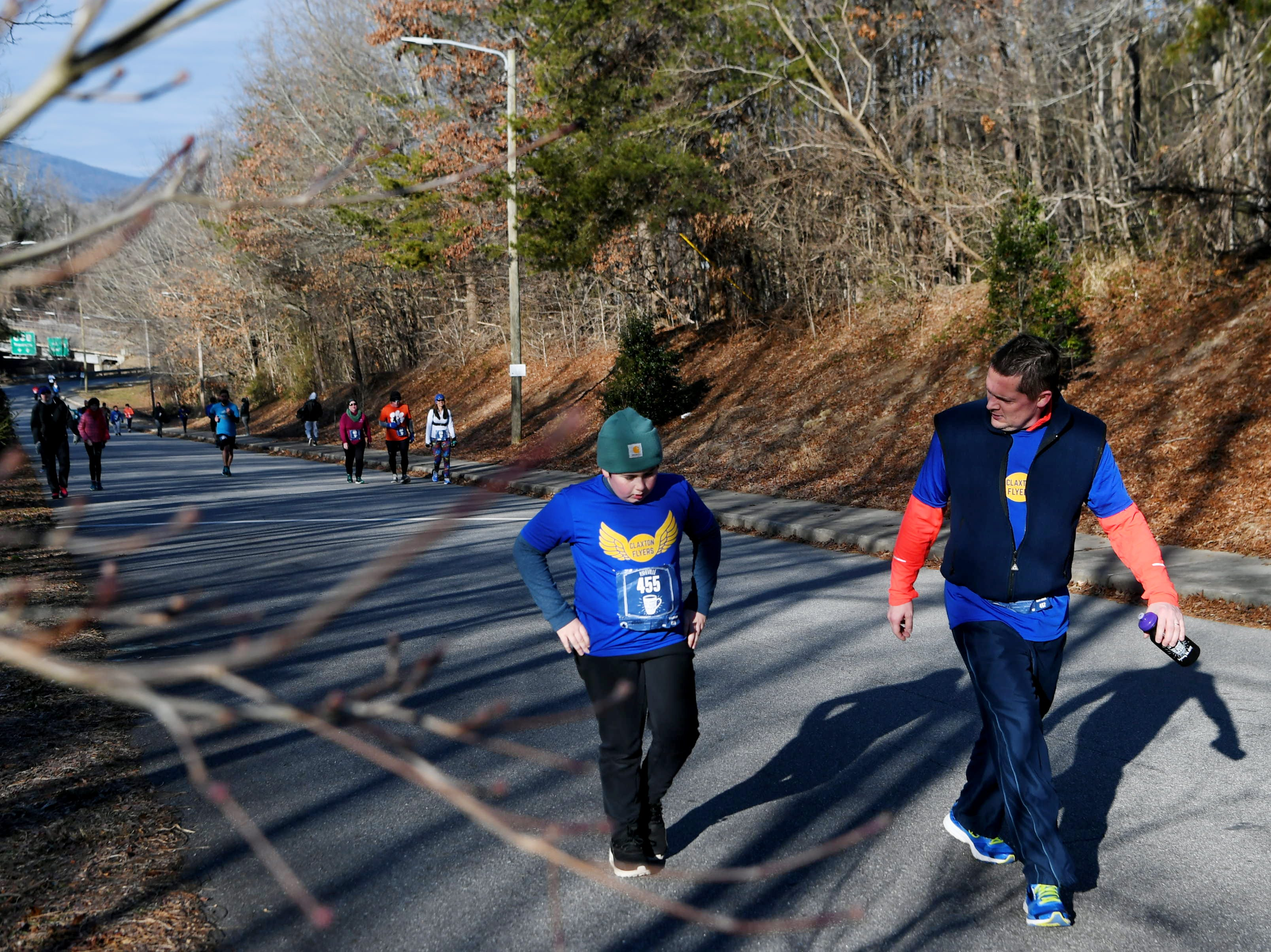 Runners supported the non-profit Isaac Dickson Elementary School Parent Teacher Organization by participating in the Asheville Hot Chocolate 10K and 5K races Jan. 26, 2019.
