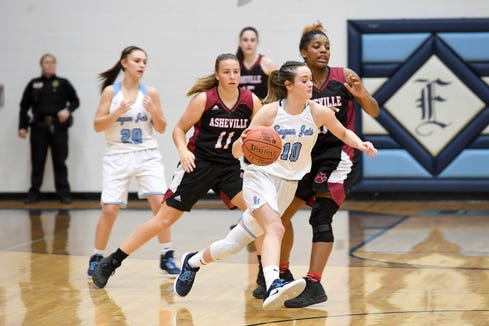 Enka hosted Asheville in a girls basketball game at Enka High School on Jan. 25, 2019. The Lady Cougars defeated the Sugar Jets 56-52.