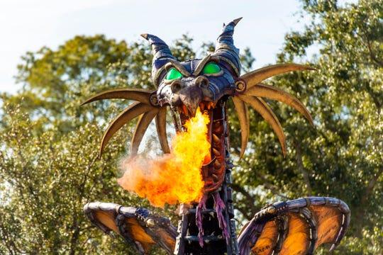 Maleficent returned to Disney's Festival of Fantasy parade at Magic Kingdom Park at Walt Disney World in Lake Buena Vista, Fla., Jan. 25, 2019.