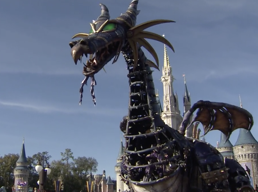 Maleficent returns to Disney's Festival of Fantasy Parade
