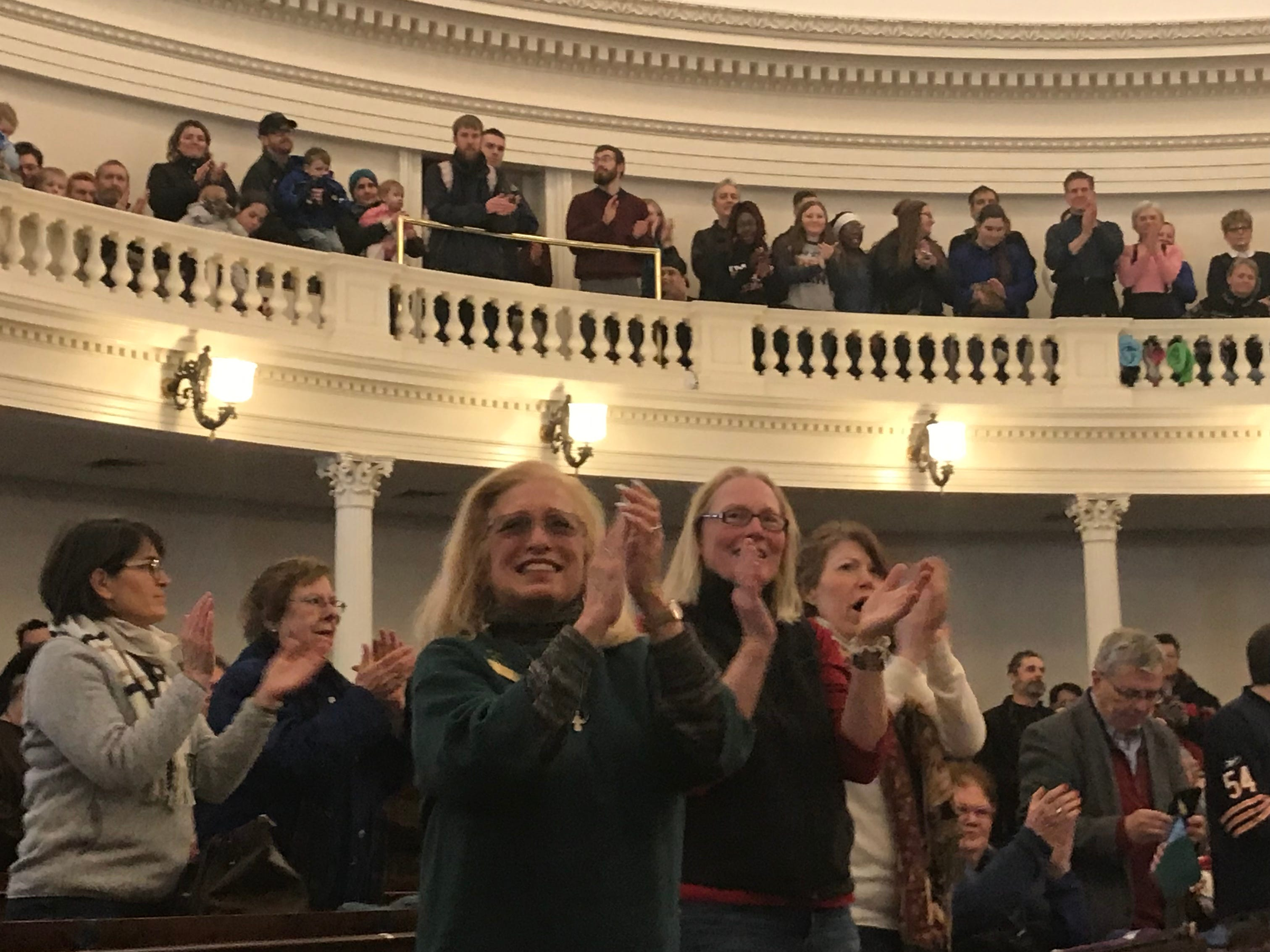 Rep. Mary Ann Morrissey, R-Bennington, was introduced at the anti-abortion rally in Montpelier on Jan. 26, 2019 as a supporter of Right to Life Vermont.