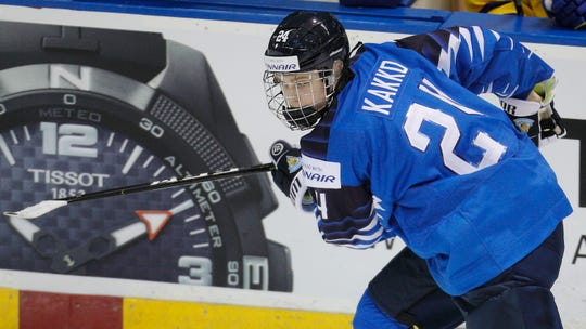Kaapo Kakko of Finland was ranked first among European skaters eligible for the 2019 NHL draft.