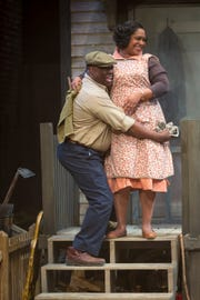 """""""Fences"""" is the sixth work in playwright August Wilson's 10-play Pittsburgh Cycle. The Cincinnati Shakespeare Company's production of the show, which runs through Feb. 16, stars Torie Wiggins (R) and """"ranney"""" as Rose and Troy Maxson, a middle-aged couple coping with life's disappointments and the social changes that are taking place around them."""