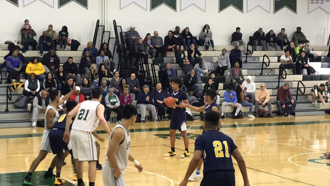 The Franklin boys basketball team defeated East Brunswick 59-53 on Saturday, Jan. 26, 2019.