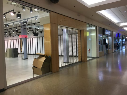 There are numerous empty storefronts in Eastland Center mall