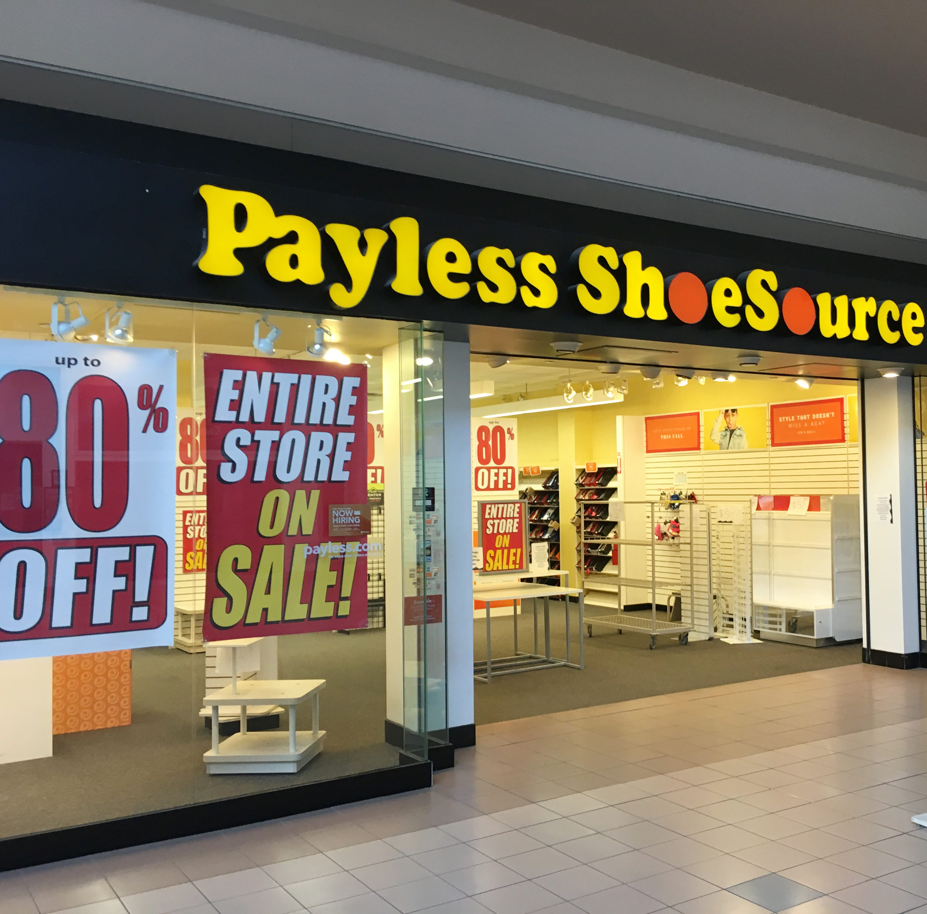 Payless ShoeSource closing all 2,100 US stores, starting liquidation sales Sunday