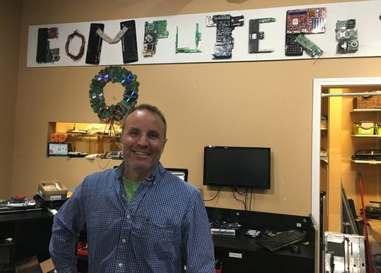 John Levy, owner of Computers To Go, is a tenant in Midland Mall