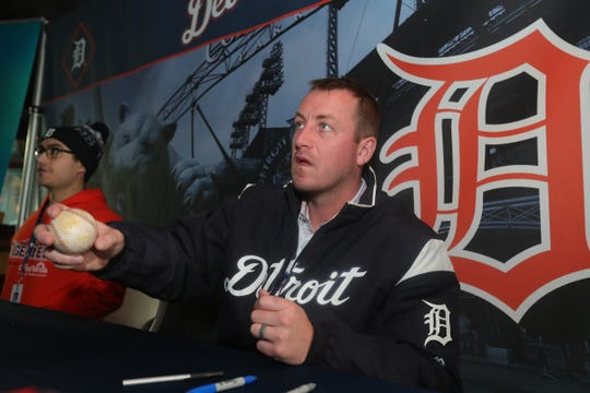 Detroit Tigers pitcher Jordan Zimmermann signs autographs during TigerFest at Comerica Park, Saturday, Jan. 26, 2019 in Detroit.