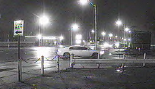 Police are searching for the suspect driving this white vehicle.