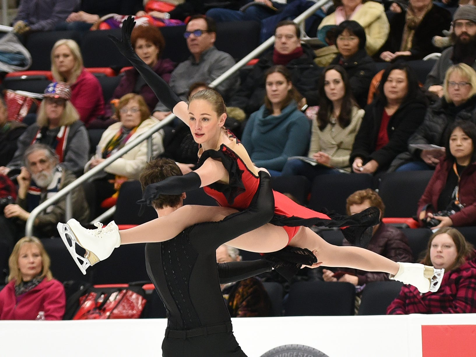 Elicia Reynolds and Stephen Reynolds perform during the rhythm dance competition.