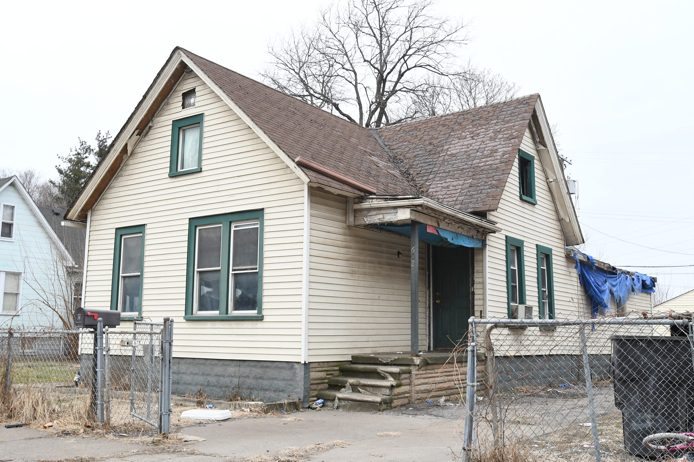 The family of eight lived in this 1901 home  on Melville in the Delray neighborhood of southwest Detroit.