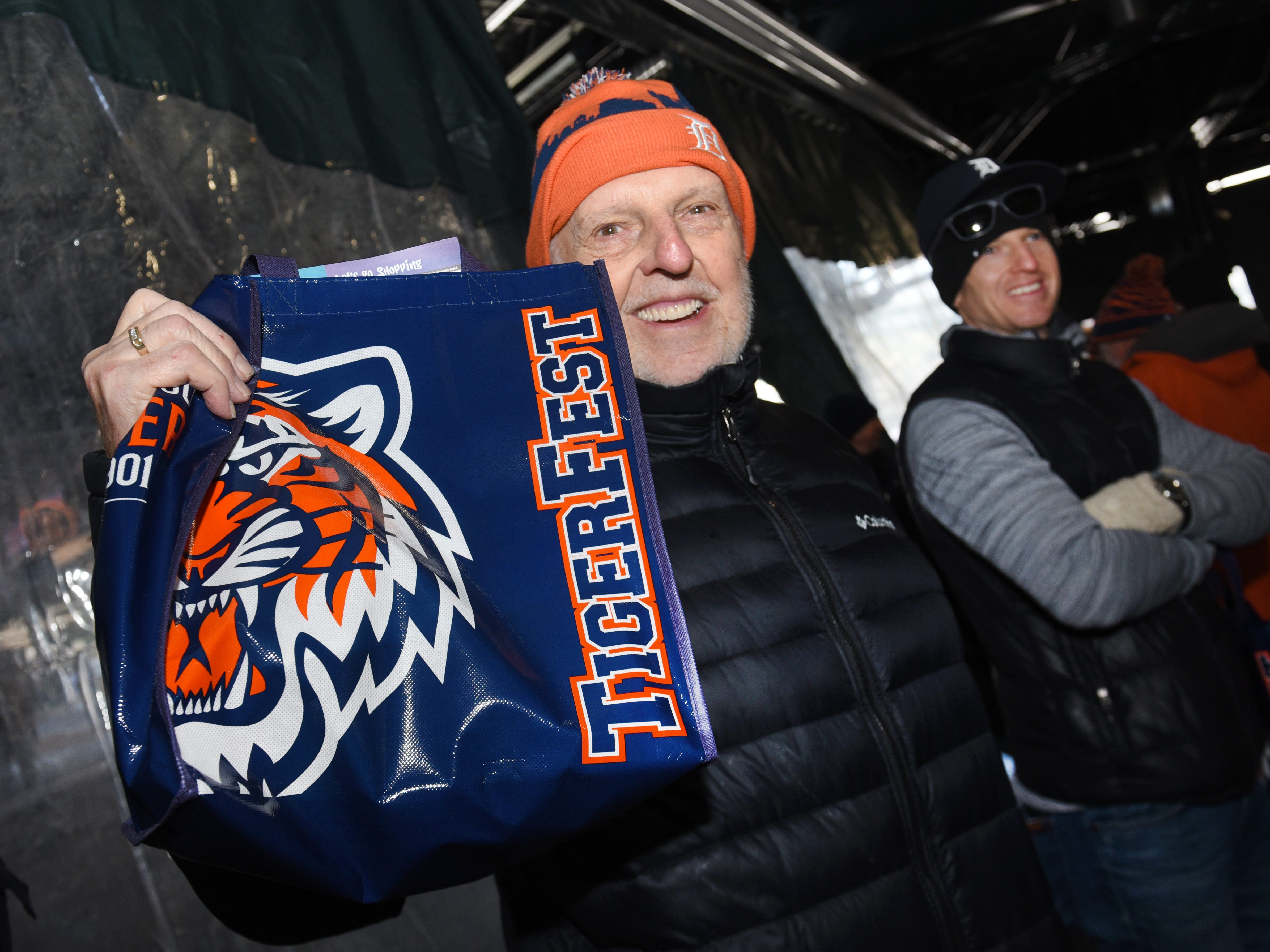 Don Watchowski of Shelby Township shows his Detroit Tiger pride during TigerFest 2019 at Comerica Park in Detroit on Saturday, January 26, 2019.