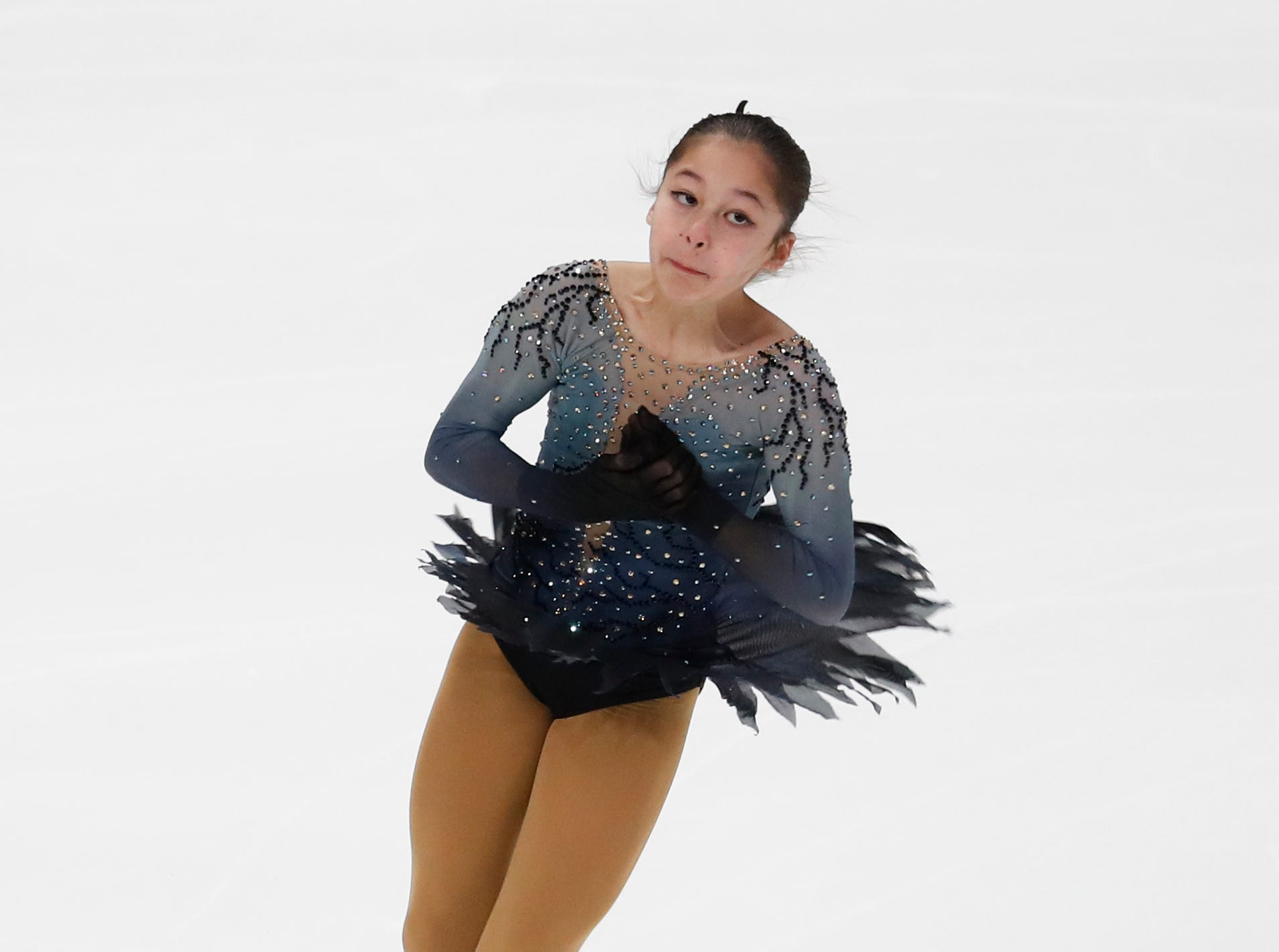 Alysa Liu performs during the women's free skate at the U.S. Figure Skating Championships, Friday.