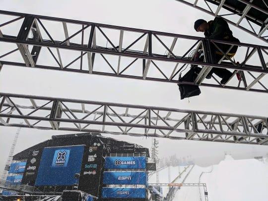 Former Fort Collins resident Ben Hunter works a camera during the X Games Aspen.