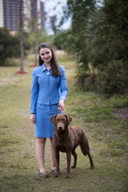 Jessica Braatz qualified for the Westminster Dog Show in New York with her dog Styx.