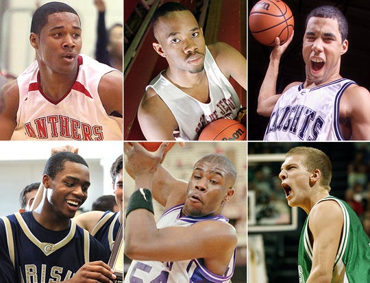 Top row, left to right: D'Vauntes Smith-Rivera, Mike Bennett, Kristof Kendrick. Bottom row, left to right: Errick Peck, Courtney James and Zach Hahn.