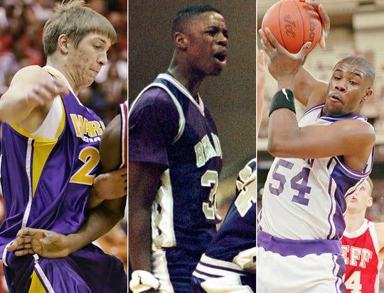 Ben Davis coaches, left to right, Jordan Bragg (Marion), Don Carlisle (Ben Davis) and Courtney James (Ben Davis) as players.