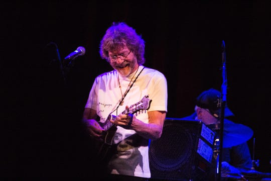 Sam Bush preforms at the Bijou Theatre in Knoxville on Jan. 11, 2019.