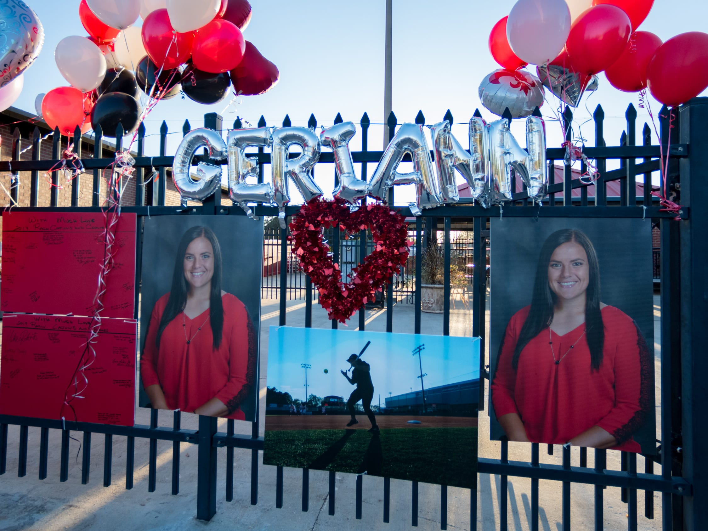 Friends, family and fans leave ballons outside of Lamson Park as a memorial to Geri Ann Glasco. Friday, Jan. 25, 2019.