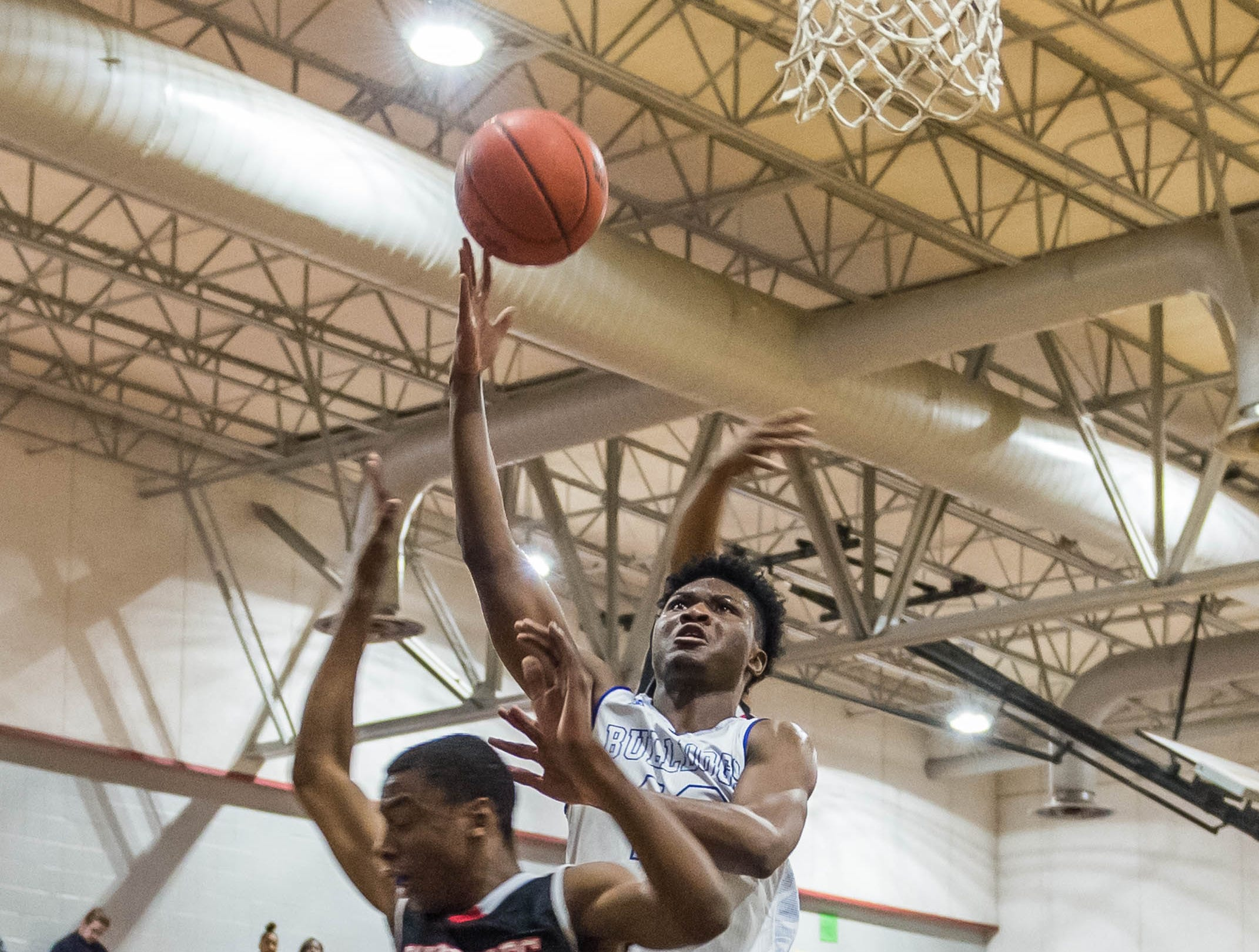 The David Thibodaux STEM Academy boys basketball team play Abbeville in a key 8-3A matchup on Friday, Jan. 25, 2019.
