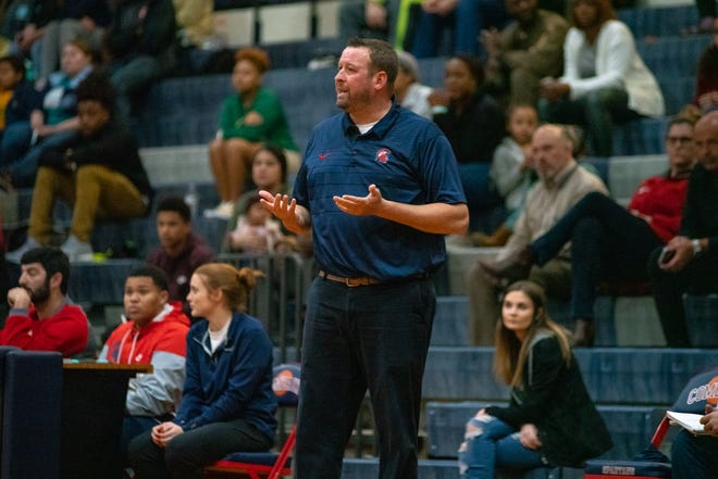 Comeaux High basketball coach Jeremy Whittington, shown here in a game from last season, said the Spartans' free throw shooting in the fourth quarter and their defensive effort were the keys to their success against Sophie B. Wright in the Sunkist Shootout Thursday.