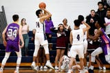See some of the action, including the winning shot, from Okemos' league win as well as comments from coach Jeff Wonch and KJ Rai.