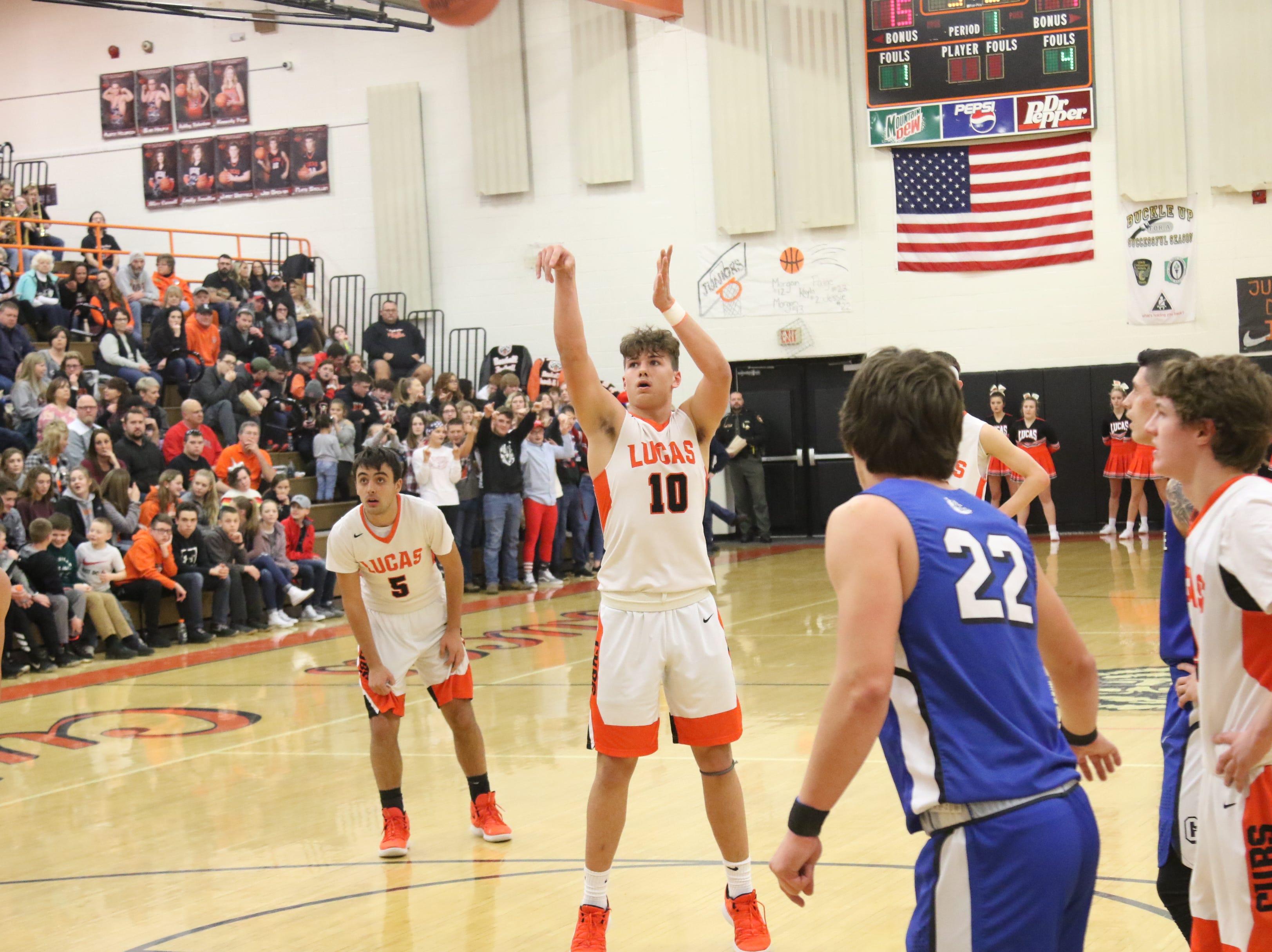Crestline at Lucas Boys Basketball