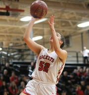 South Milwaukee forward Araia Breedlove goes up for an uncontested layup during a game against Greenfield on Jan. 25.