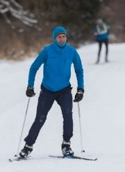 Skiers hit the trails at Lapham Peak in Delafield on Saturday. The popular candlelight ski and hike event scheduled for Saturday night had been canceled due to dangerously cold forecast temperatures.