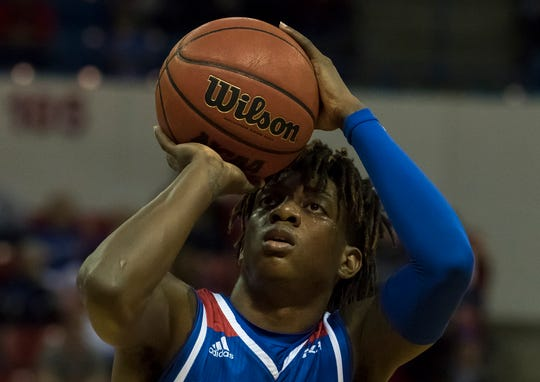 Louisiana Tech's Amorie Archibald (3) prepares to shoot a free throw during the game against Western Kentucky at the Thomas Assembly Center in Ruston, La. on Jan. 26.