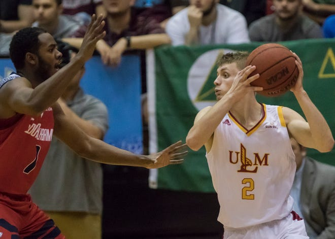 Michael Ertel had 22 points Saturday, but ULM fell in double overtime.