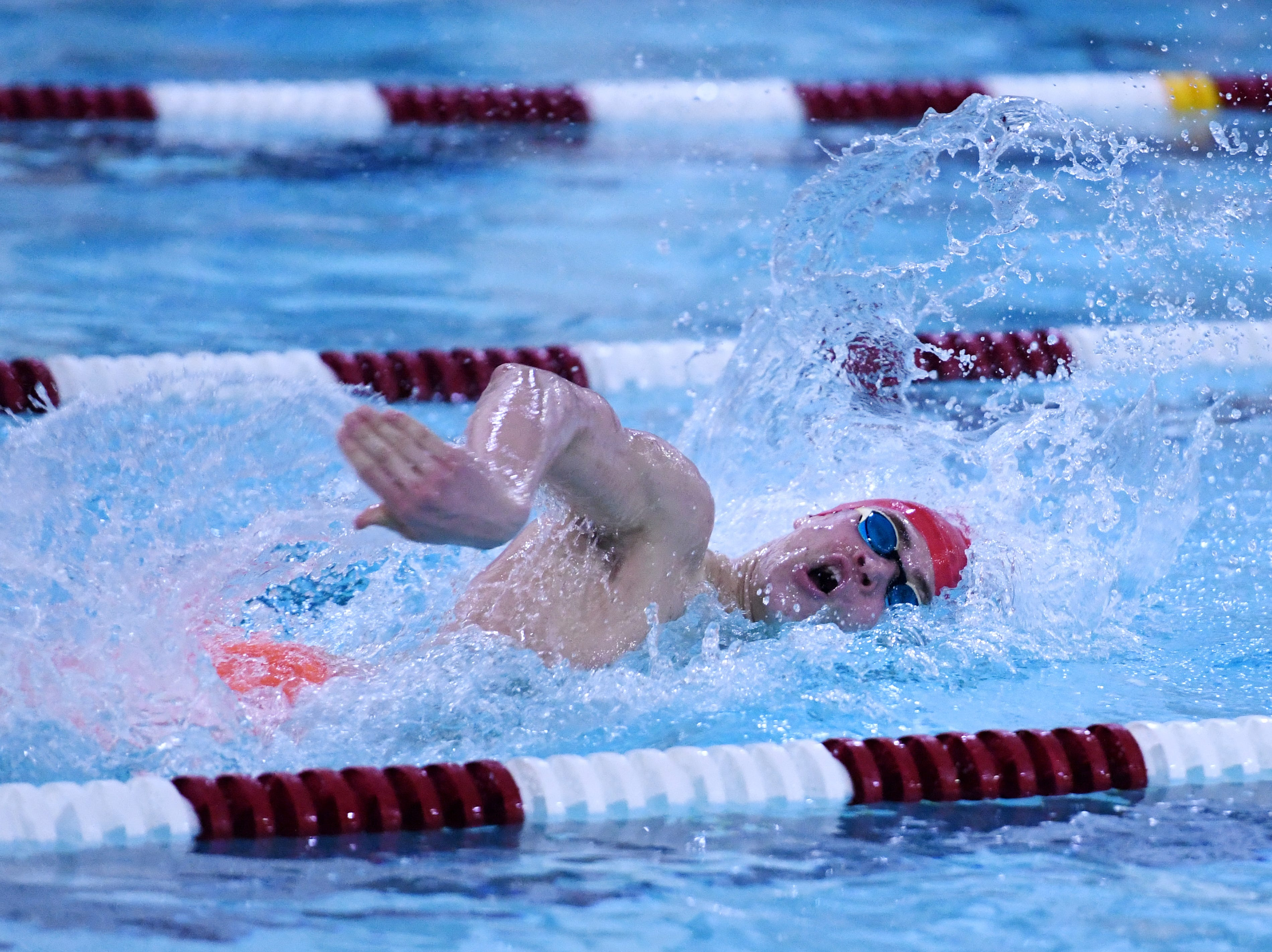Morris County Swimming Championships at Morristown High School on Saturday, January 26, 2019. Mendham senior Lukas Scheidl, who plans to swim at Brown University, won the 200-meter individual medley and 400-meter freestyle.