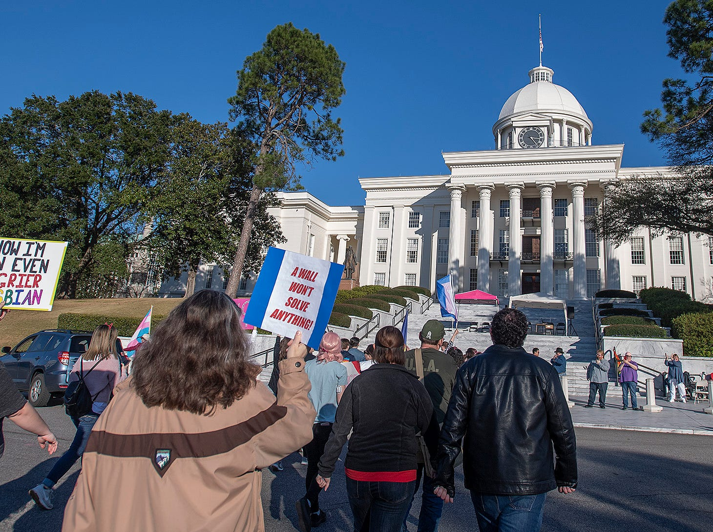 The Montgomery Women's March in downtown Montgomery, Ala., on Saturday January 26, 2019.