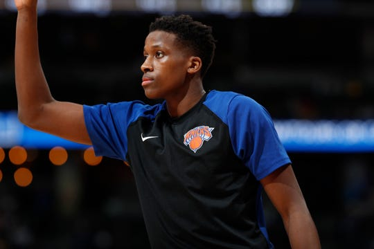 New York Knicks guard Frank Ntilikina
