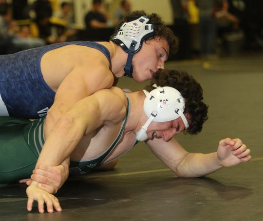 Reid Colella of Wayne Valley topped Stephen Baronne of DFePaul in the 170 lb. match.