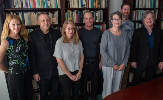 The New Mexico State University Philosophy Department Staff, from left: Lori Keleher, Mark Walker, Jennifer Noonan, Jean-Paul Vessel,  Dana Barksdale, Justin Klocksiem and Timothy Cleveland.