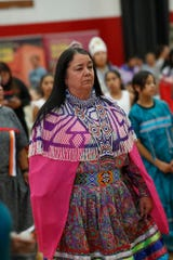 Native American youth, children and elders participate in Singing the Birds  at Palm Springs High School as part of a bird song festival celebrating Native American culture.