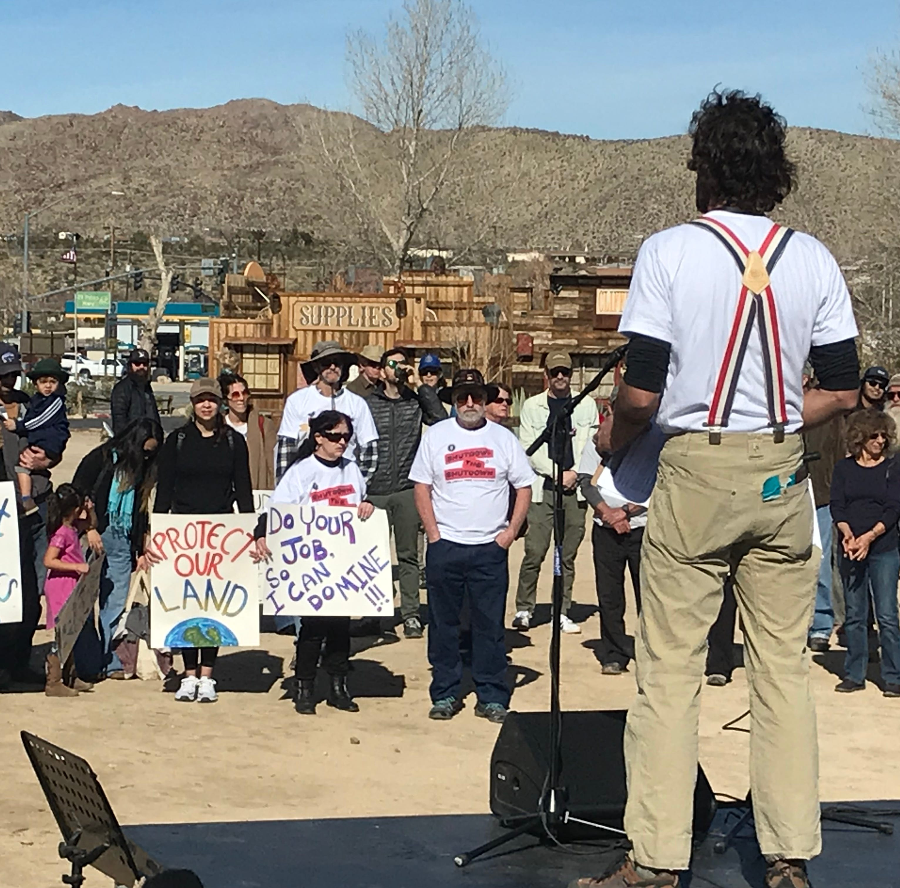 Joshua Tree National Park fans rally, decry impact from shutdown