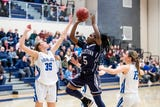 The Dallastown girls' basketball team thwarted one of the league's best offenses in Spring Grove, downing the Rockets 50-37 on their home court.