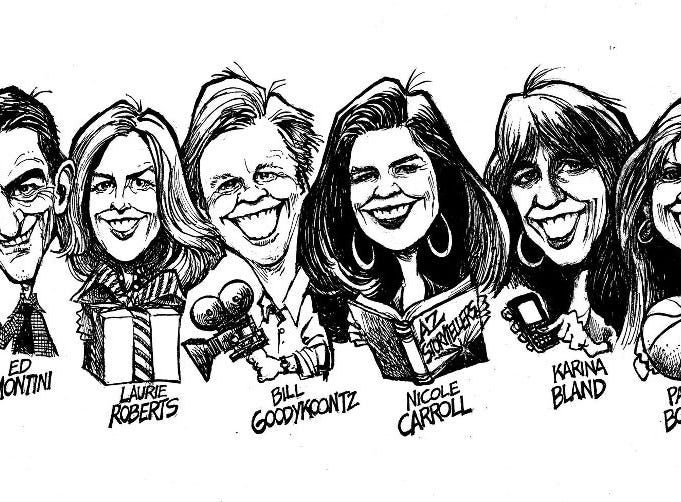 Steve Benson captured many of The Republic's staff in caricature, including himself.