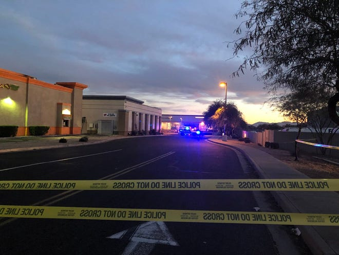 Glendale officers were at the scene of a  shooting near 43rd Avenue and Camelback Road on Jan. 25, 2019.
