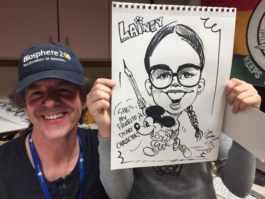 Any time I had a guest in the newsroom, I would take them by Steve Benson's messy office on the corner of the ninth-floor newsroom, and he would draw them. Especially if they were kids.