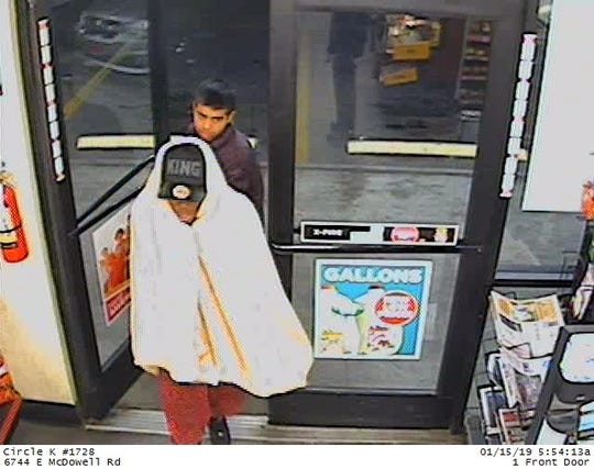 Scottsdale police released surveillance photos of two men suspected in a Circle K robber on Jan. 15.