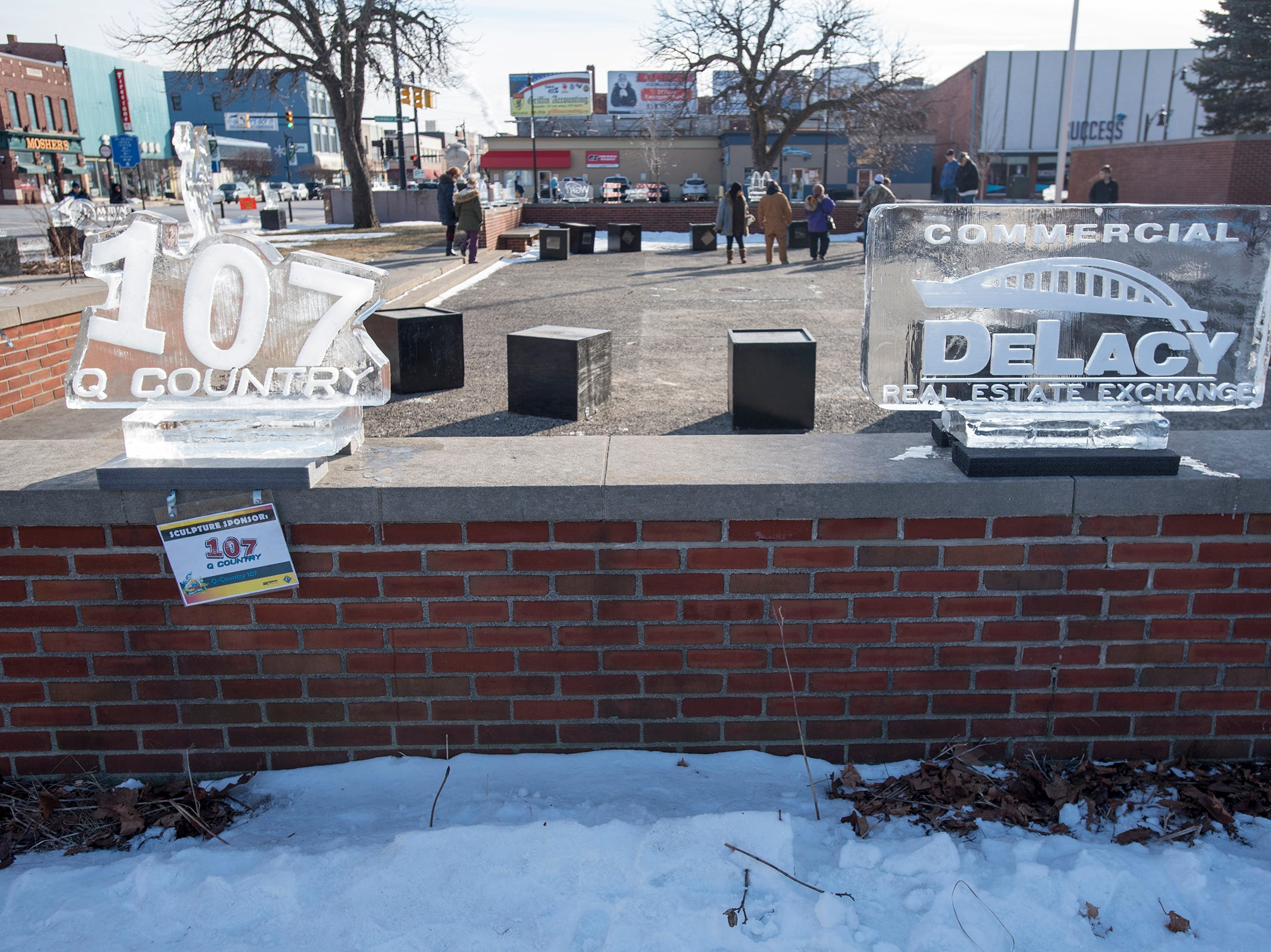 Ice sculptures line Huron Avenue in downtown Port Huron Saturday, Jan. 26, 2019 during Chilly Fest.