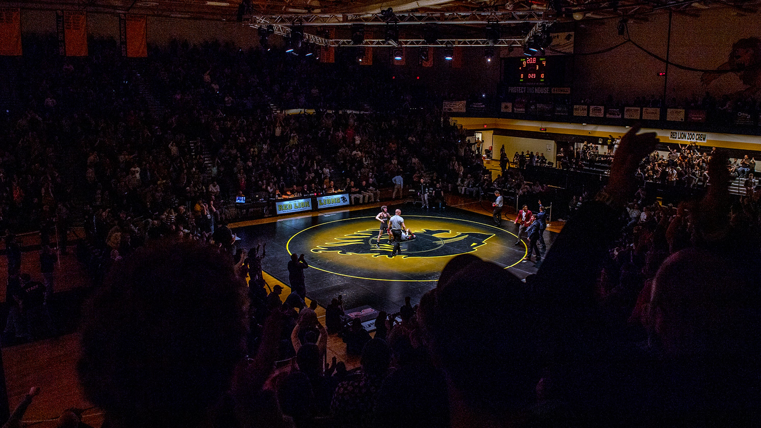 Wrestling Lock Haven Arizona State Enjoy Atmosphere At