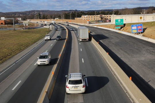This is a view of Interstate 83 north and southbound from the Route 124 bridge at Exit 18.